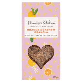 Orange & Cashew granola 400g Primroses Kitchen - Murot ja myslit - 700461752011 - 1