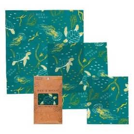 Assorted 3-pack Oceans Print  Bee´s wrap - Leivinpaperit ja kelmut - 854016005258 - 1